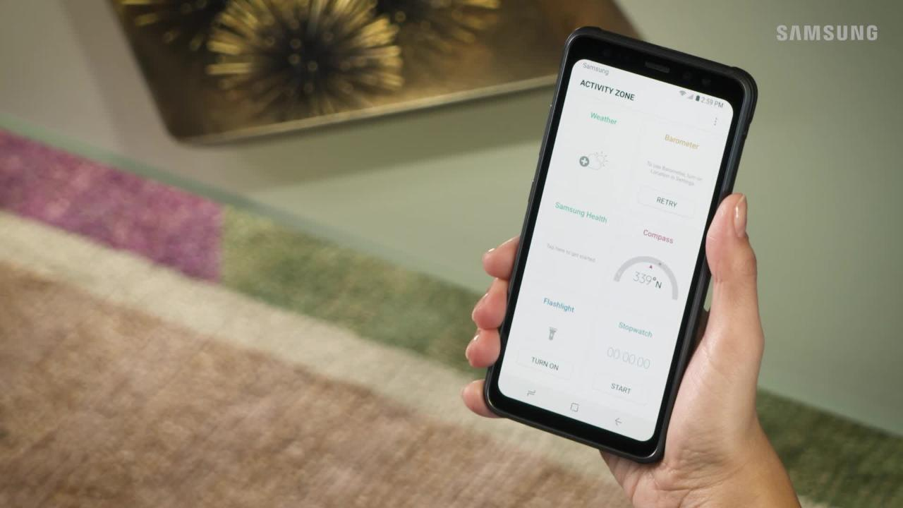 Access The Activity Zone On Your Galaxy S8 Active