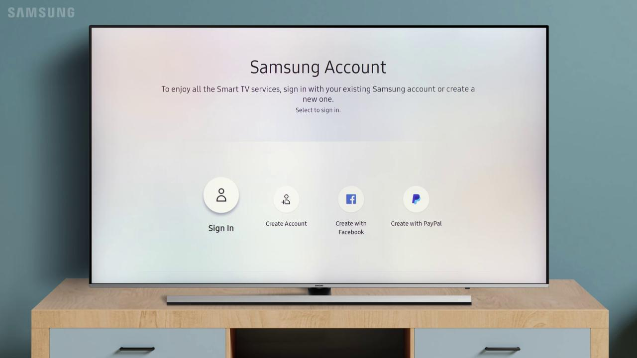 Samsung Account Setup on your TV