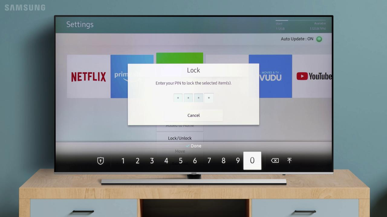 Lock and Unlock Apps on your TV