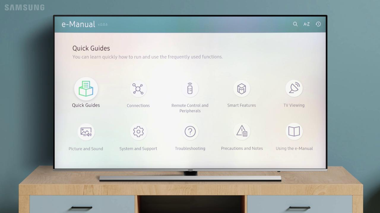 Use the E-Manual on your TV