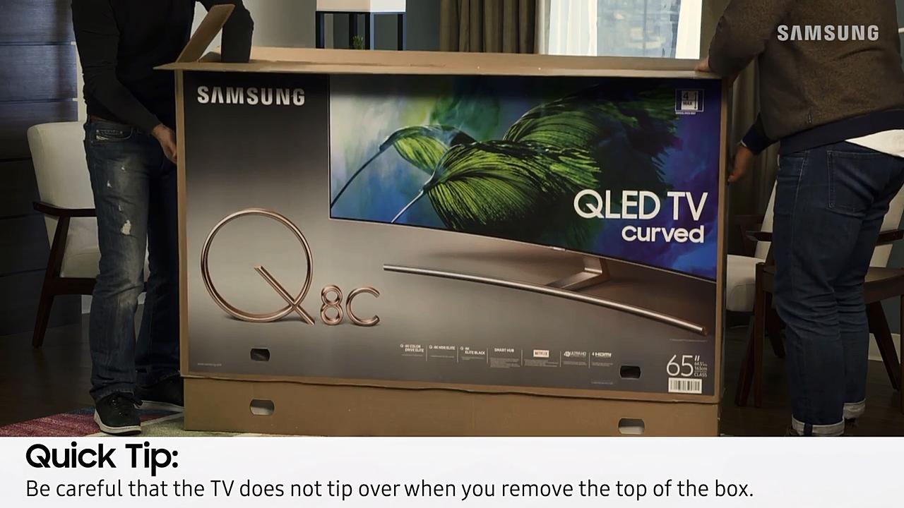 How to Properly Unbox the 2017 QLED TV