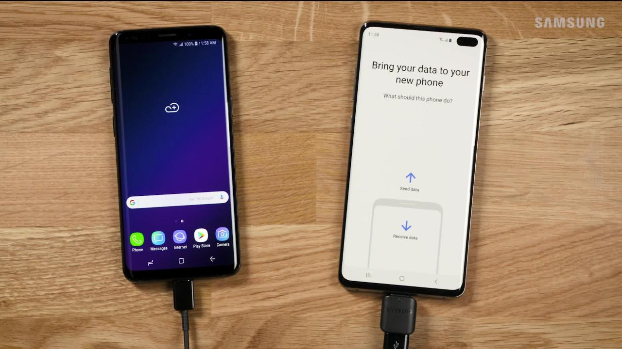 Using the USB C Connector for Smart Switch on Your Galaxy S10