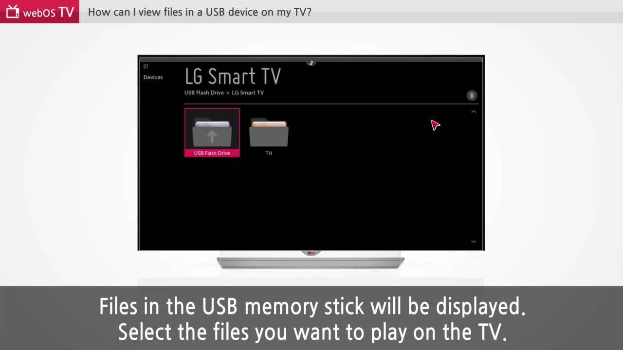 Connecting a USB to your LG Smart TV