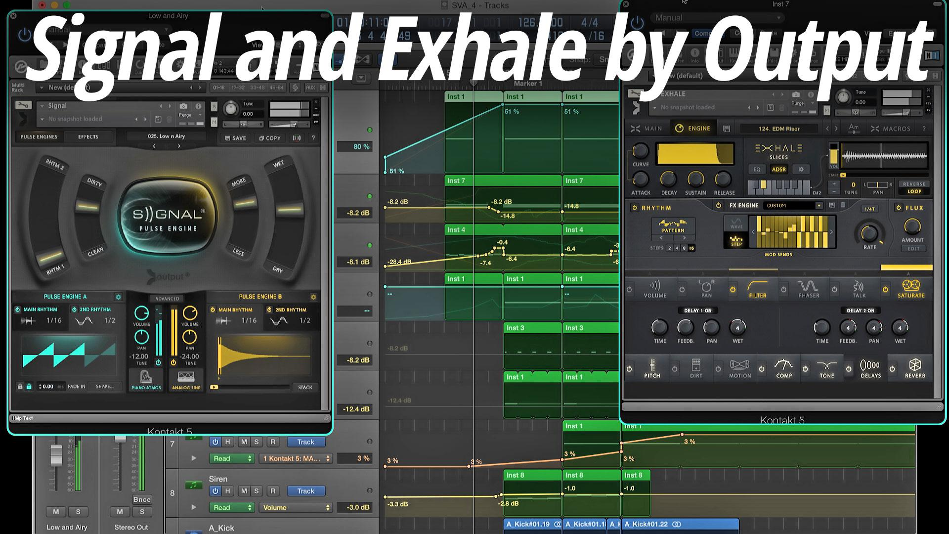 Output Exhale - Modern Vocal Engine Virtual Instrument Software (Download)