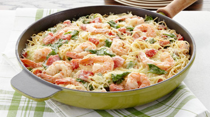 Easy recipes for pasta and shrimp