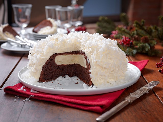 Image result for chocolate cake in snow
