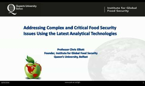 Addressing Complex and Critical Food Security Issues Using the Latest  Analytical Technologies