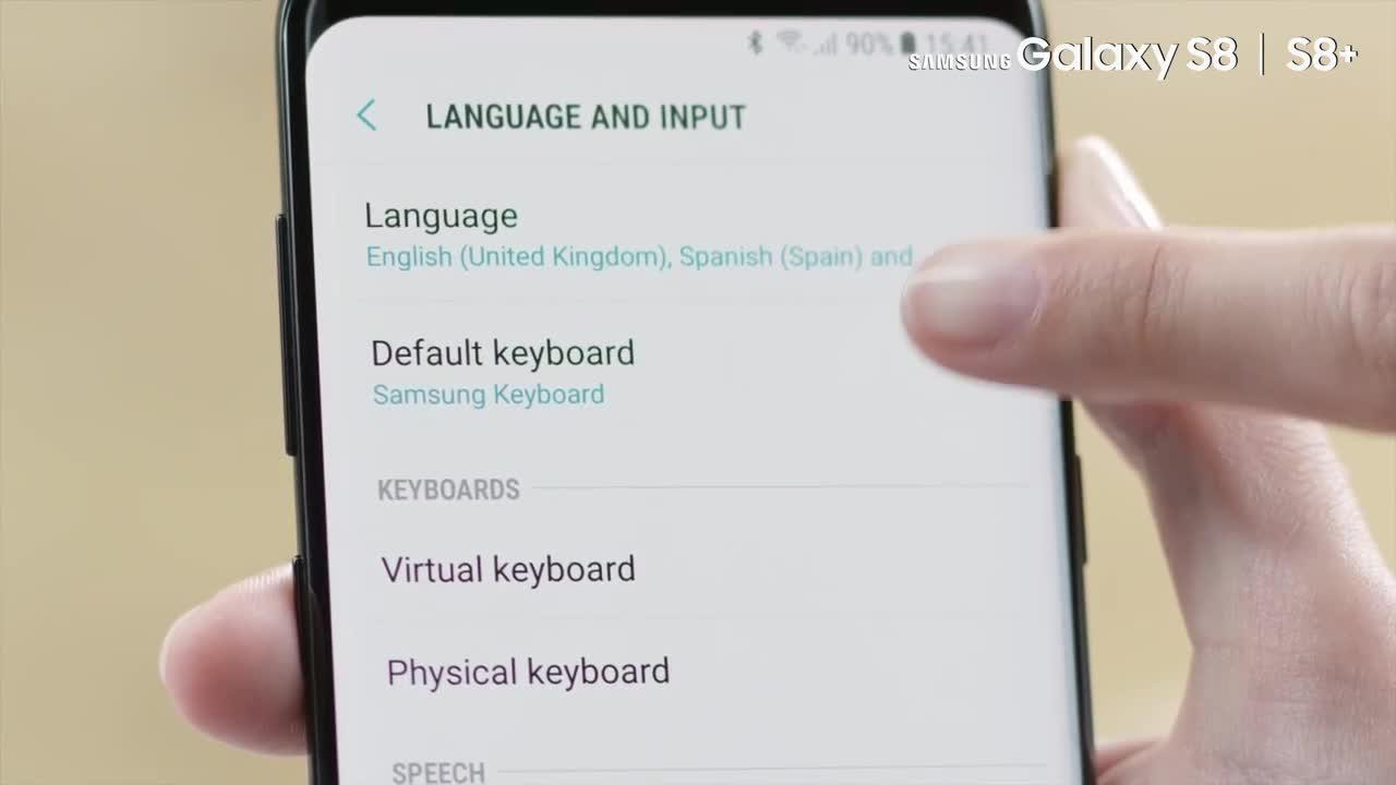 How to change the language and input options in Samsung