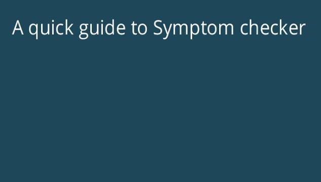 Symptom Checker introduction