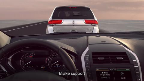 Collision warning with brake support | Vehicle Features