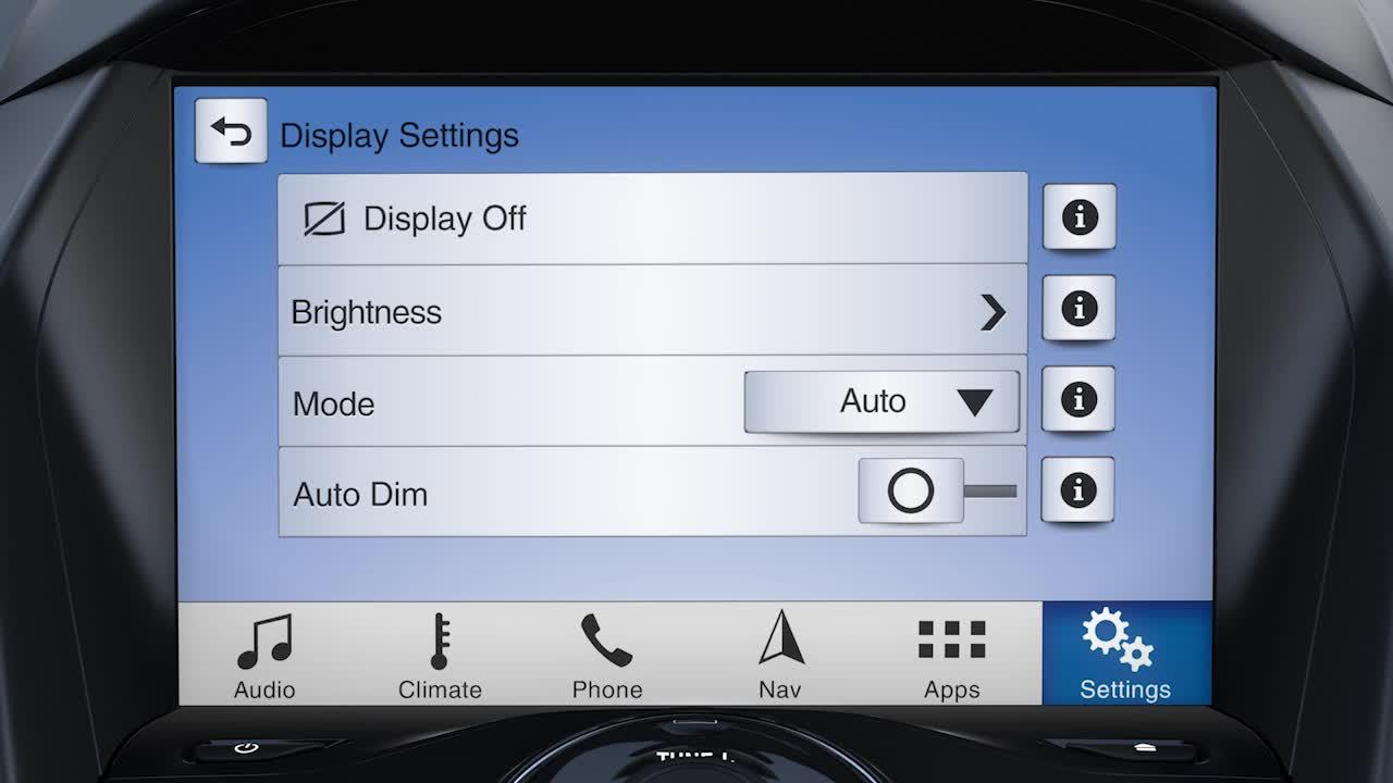 How to adjust your SYNC® 3 touchscreen brightness | SYNC | Official