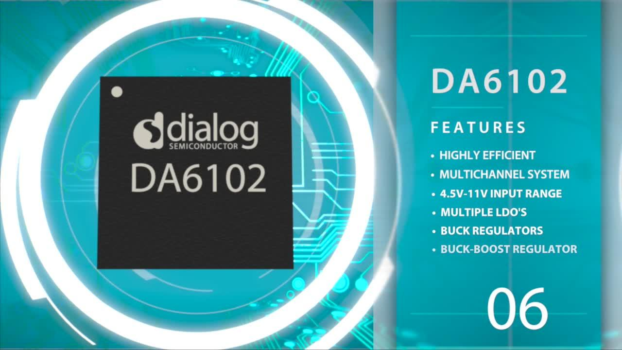 Da6102 Dialog Semiconductor Programmable Integrated Circuit Tps79301dbvr Ldo Voltage Regulators