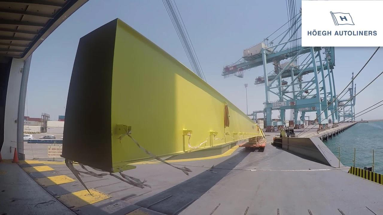 Longest breakbulk unit loaded on single rolltrailer, Video