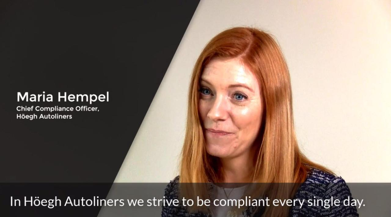 Chief Compliance Officer, Maria Hempel, on fighting corruption at sea together