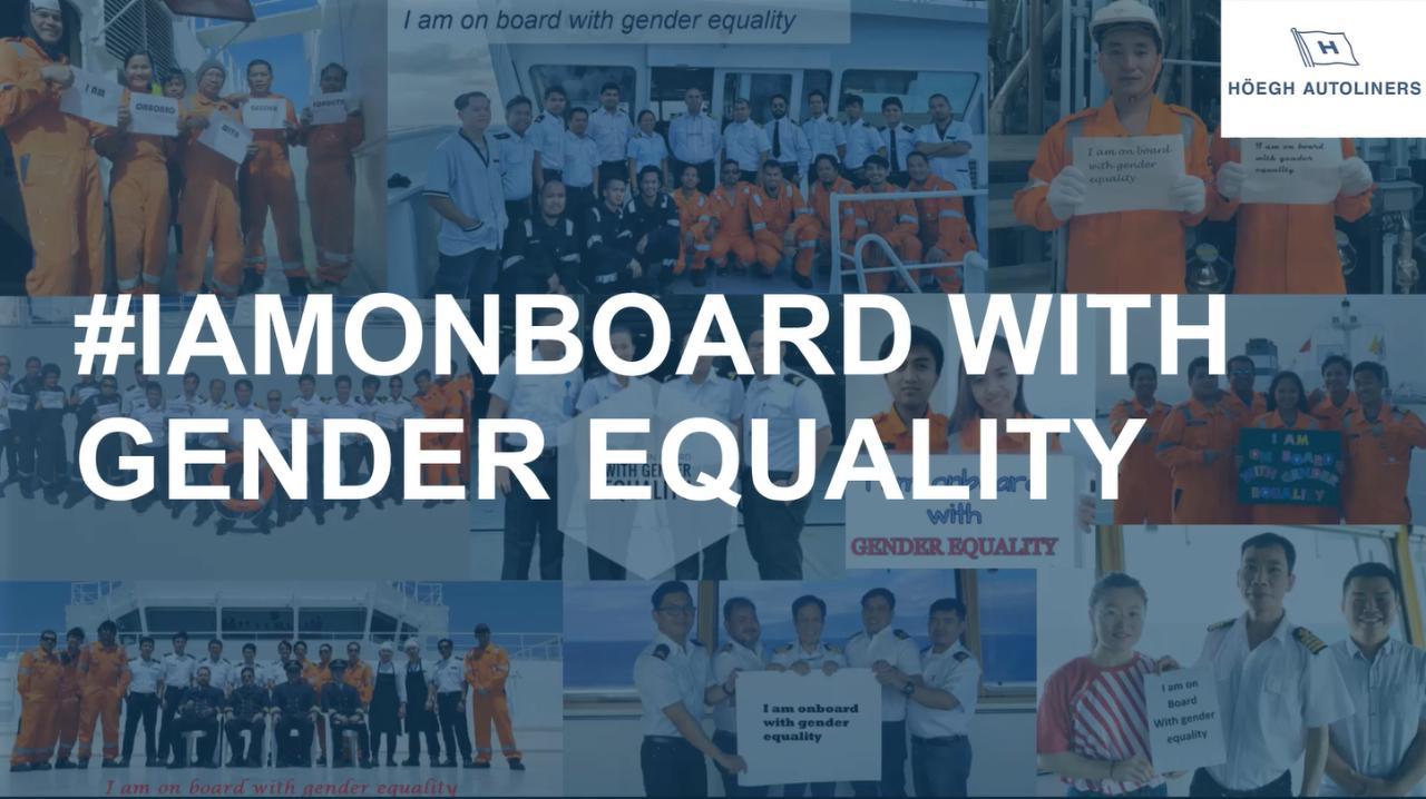 #IAmOnBoard with gender equality, Video