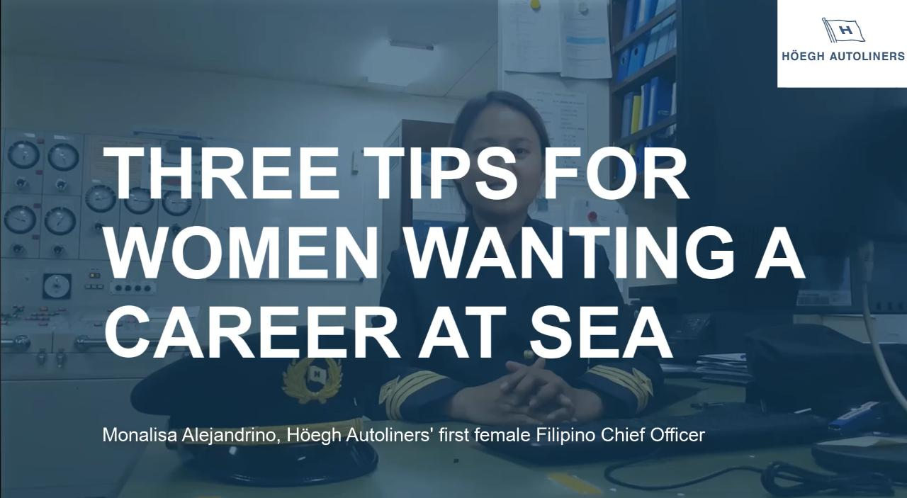 Three tips for women wanting a career at sea