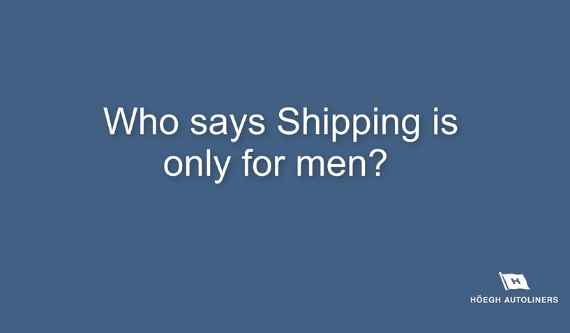 Who says Shipping is only for men?, Video