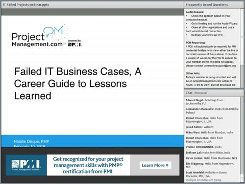 ProjectManagement.com - Lessons Learned in IT Project Failures