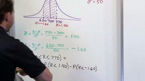 Finding Probability Using A Normal Distribution: Part 5 - SAGE