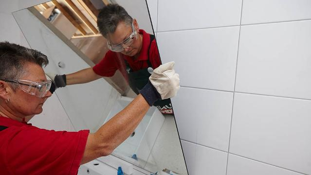 How To Install A Bathroom Mirror Video Bunnings Warehouse