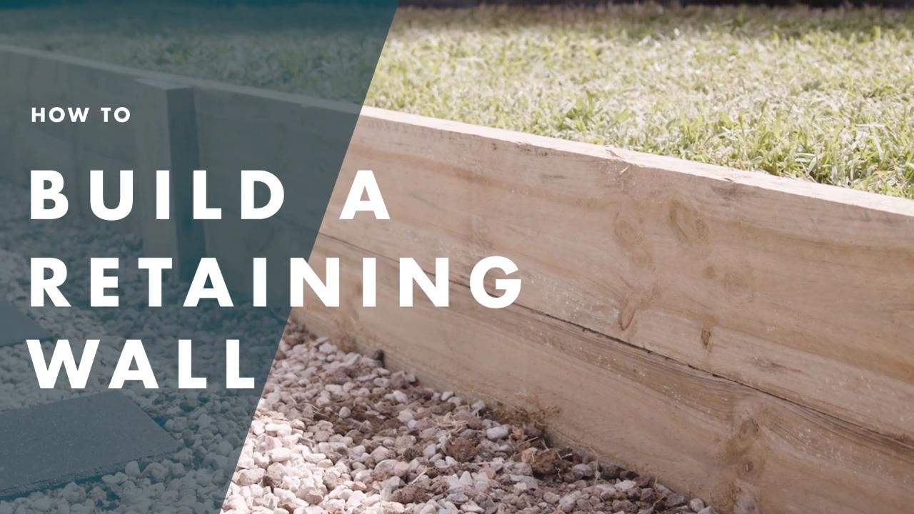How To Build A Timber Retaining Wall   Bunnings Australia