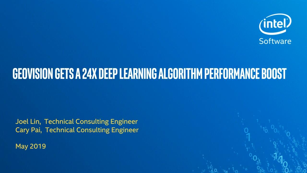GeoVision Gets a 24x Deep Learning Algorithm Performance Boost