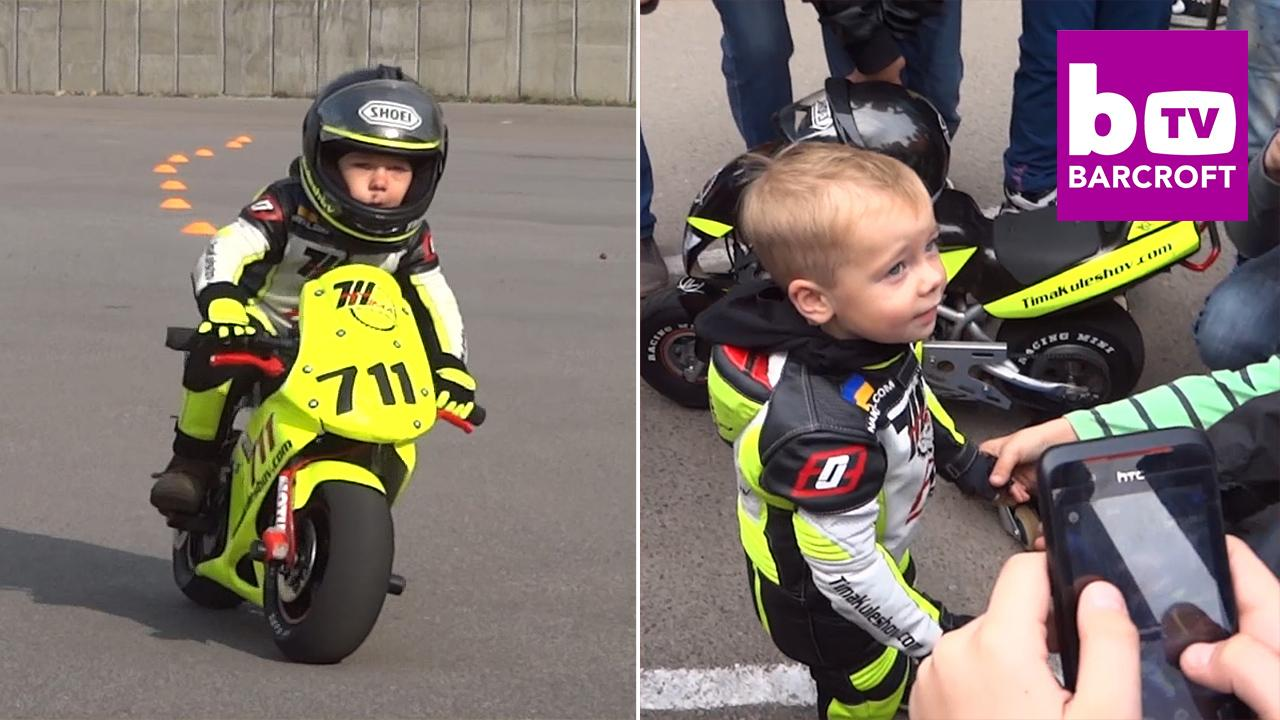 4-year-old kid shows off amazing motorcycle skills (Video) | New ...