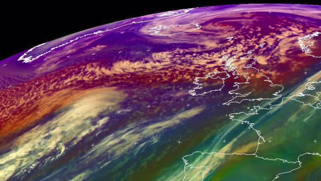 Video: Storm Eva is heading for the UK in this satellite image animation