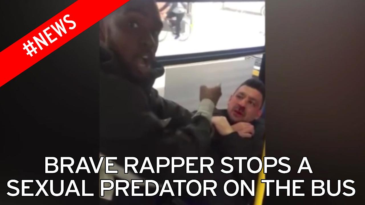 rapper 'stops young girl being sexually assaulted' on bus - but is