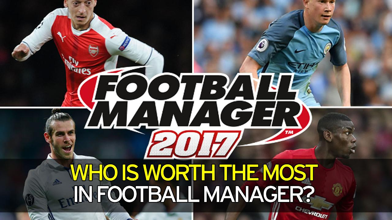 Who is worth the most in football manager?
