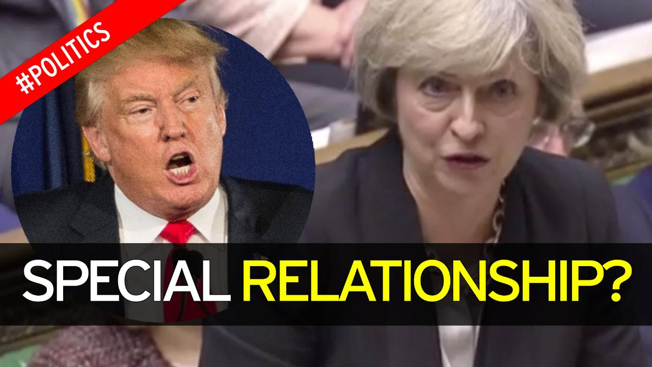Image result for Theresa May condemns Donald Trump on Britain First