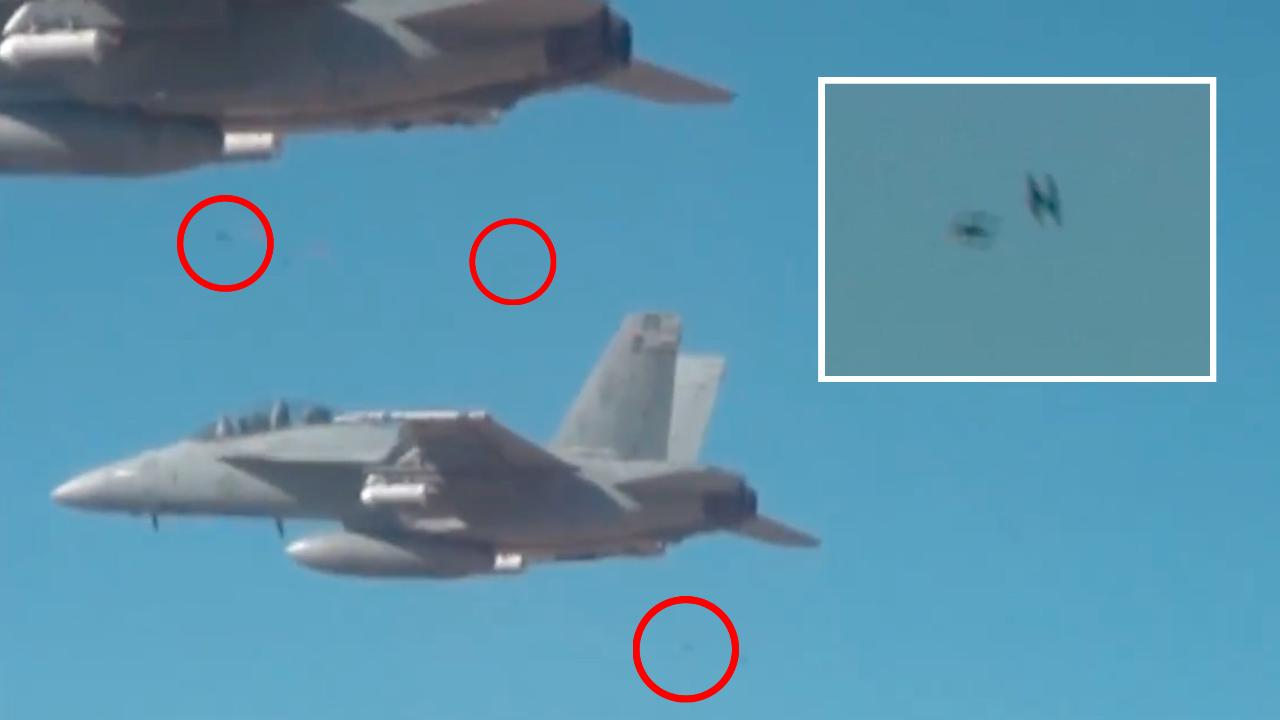 Swarm Of Micro Drones With Hive Mind Dropped From Fighter Jets In US Military Test