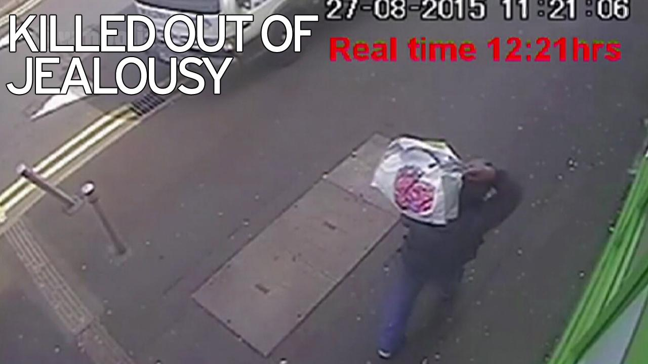 CCTV of Leroy Sterling carrying clothes from the home of Wendy Mann