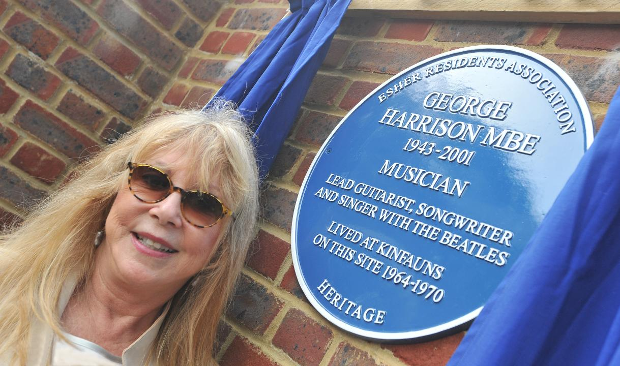 Beatles Guitarist George Harrison Blue Plaque Unveiled By First Wife