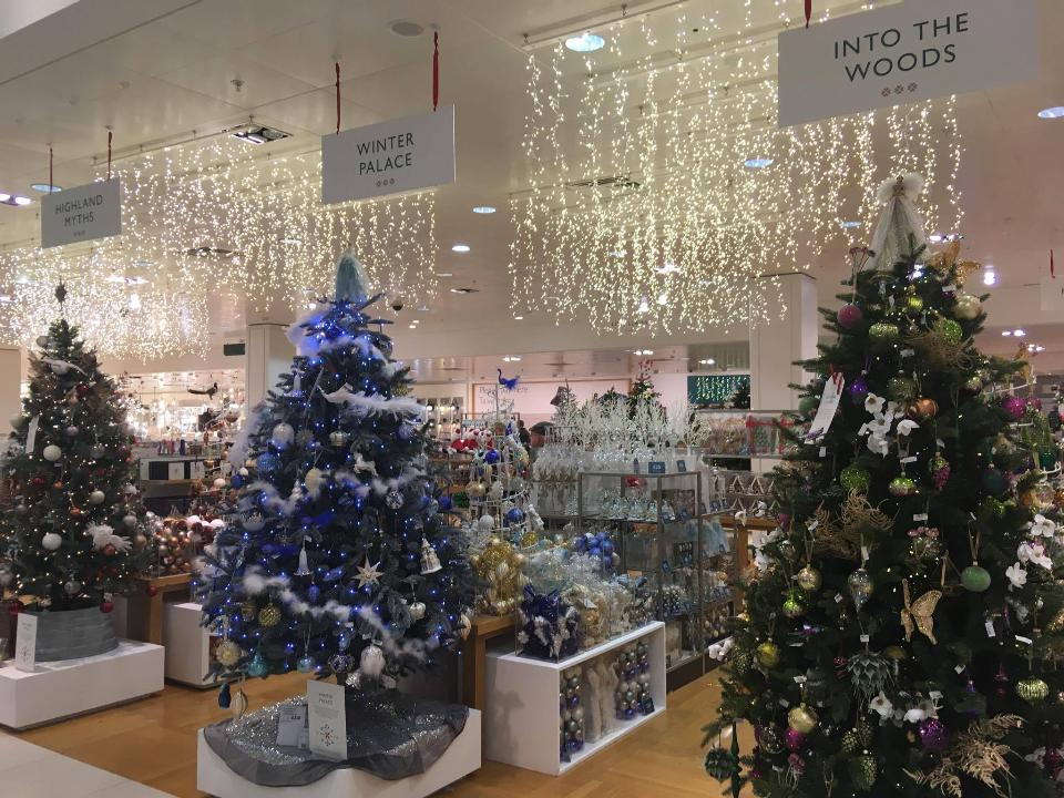 John Lewis Christmas Tree Themes.Watch The Christmas Shop At John Lewis Being Put Together
