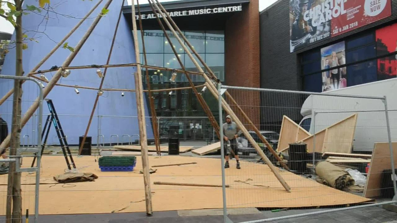 Video Loading & This is why two huge wooden tents are being built in Hull city ...