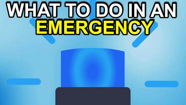 What to do in an emergency situation