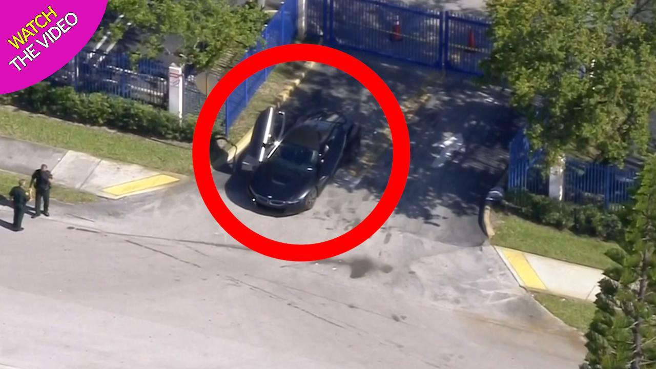 Aerial footage shows scene where XXXTentacion was shot dead in his car