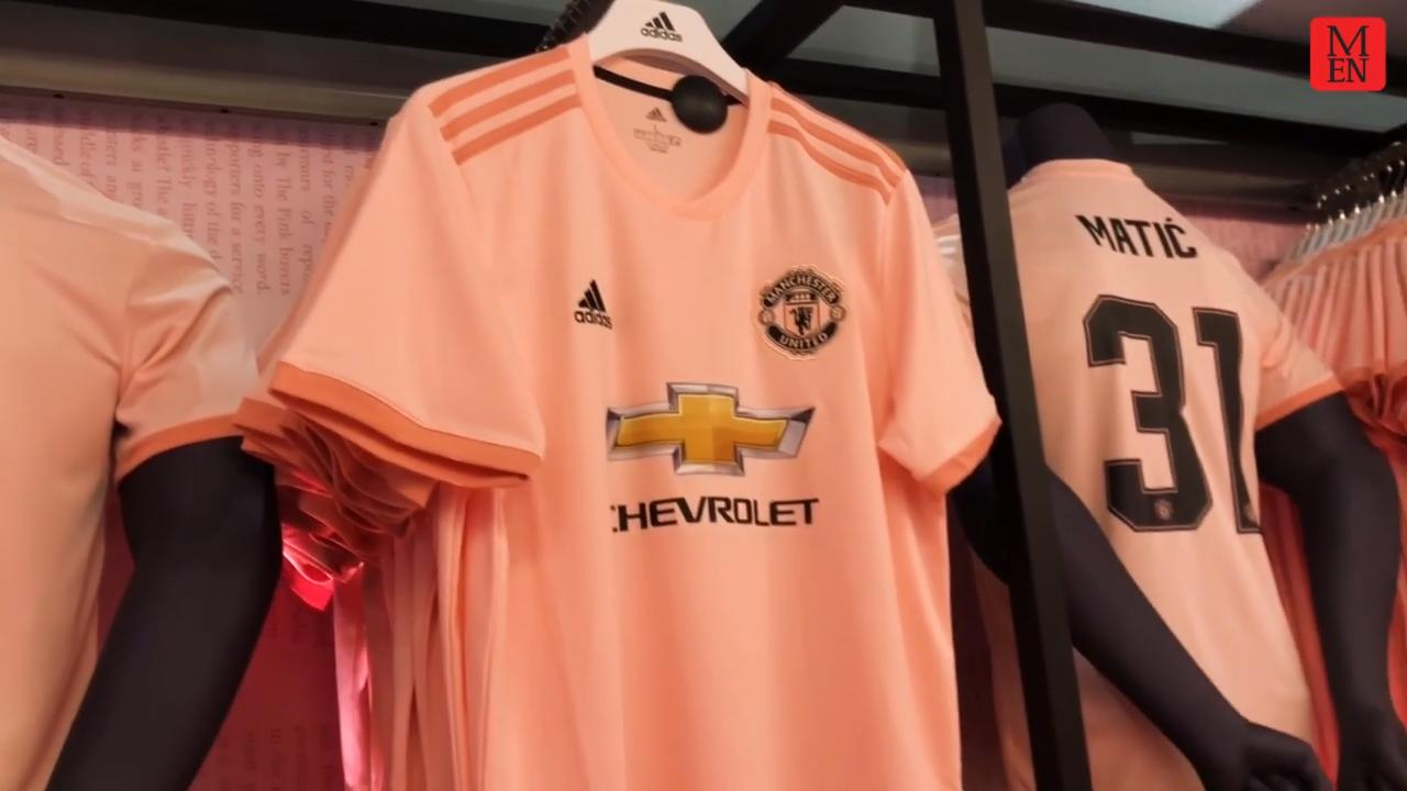 premium selection 046ba d7f56 United unveil new MEN-inspired pink away shirt