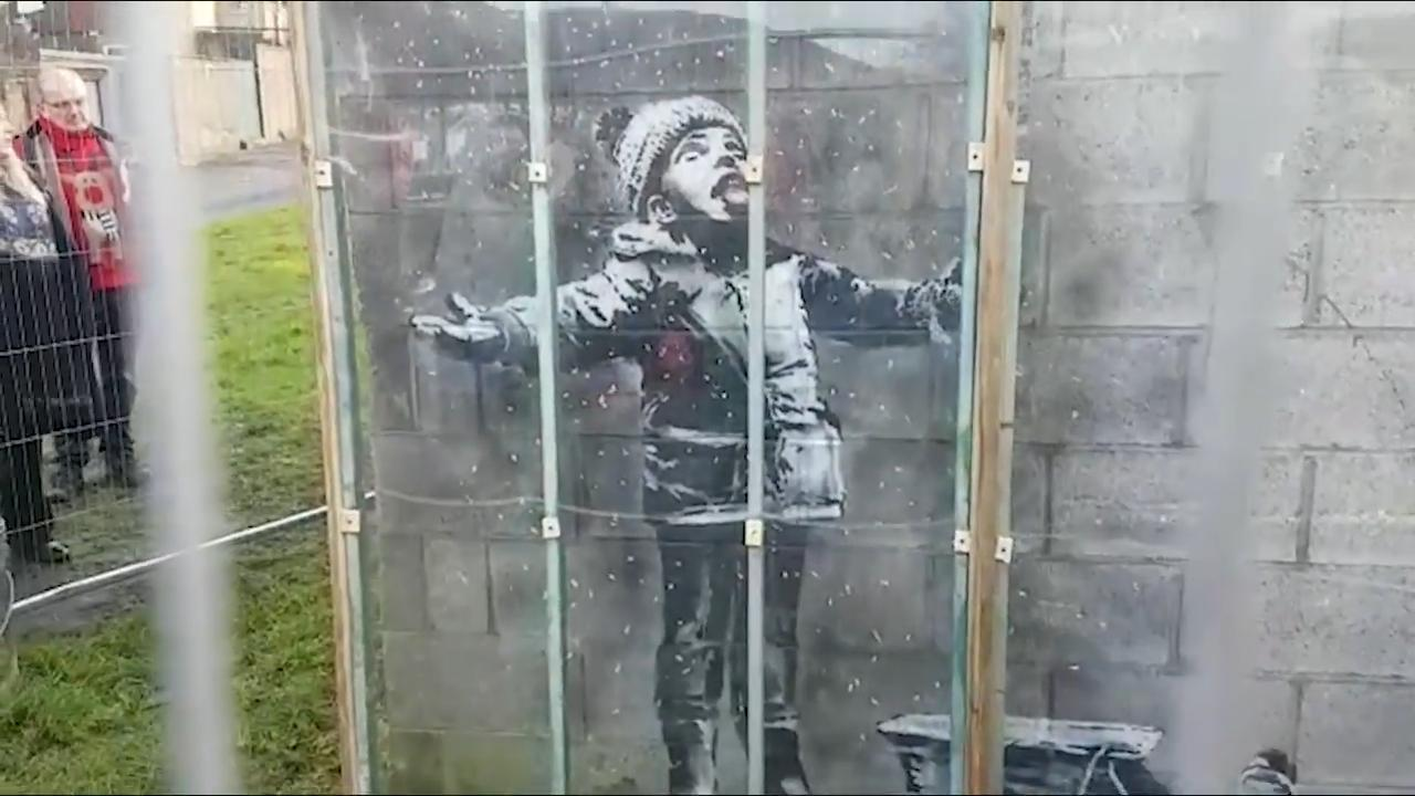 Banksy in Port Talbot sold for six-figure sum