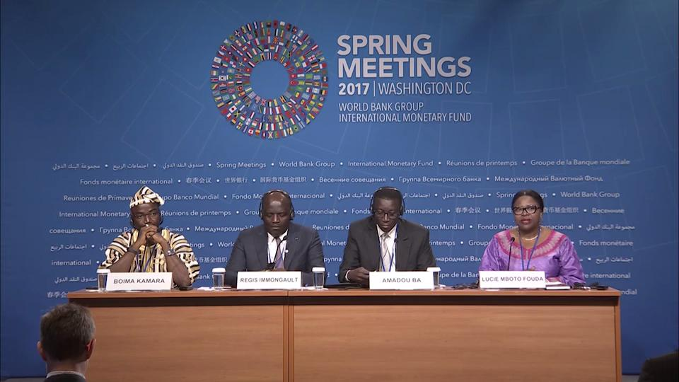 ARABIC: Press Briefing: African Finance Ministers