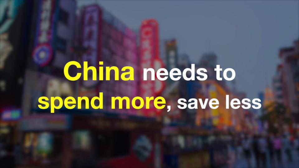 China: spend more, save less