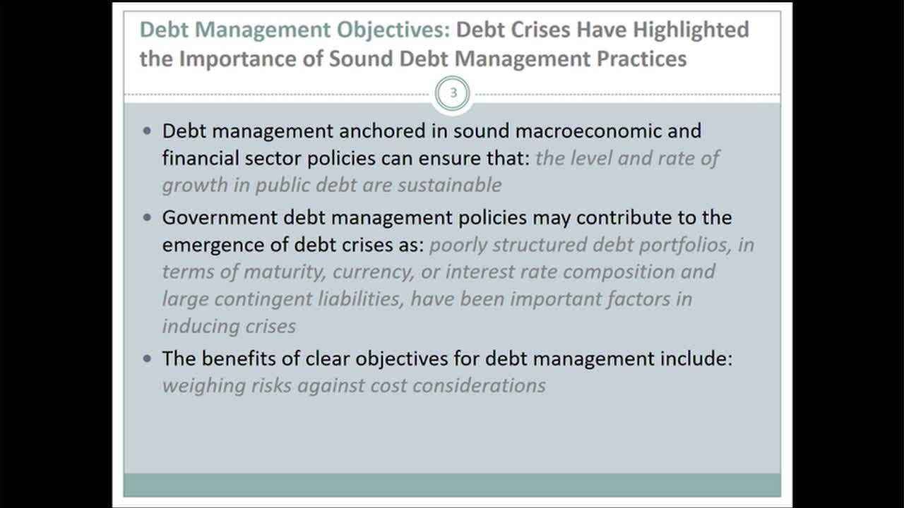 Sovereign Debt:   A Guide for Economists and Practitioners, Session 4:	Debt Sustainability
