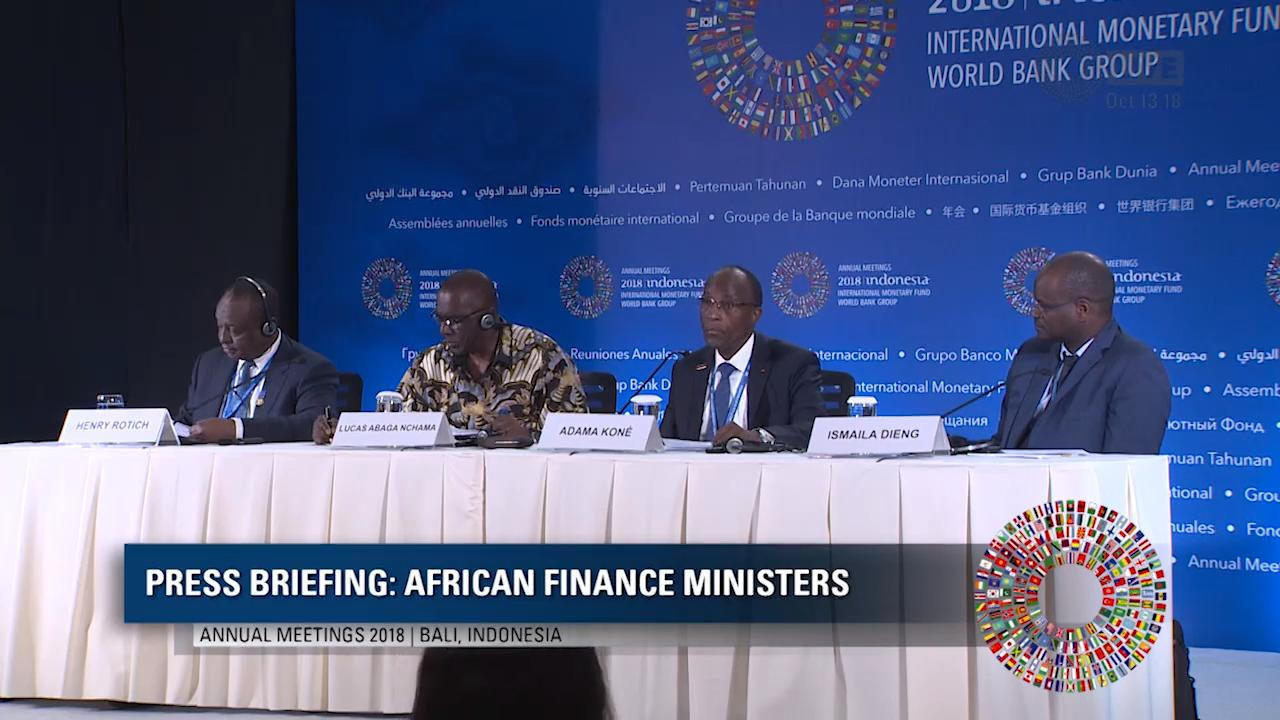 French: Press Briefing - African Finance Ministers