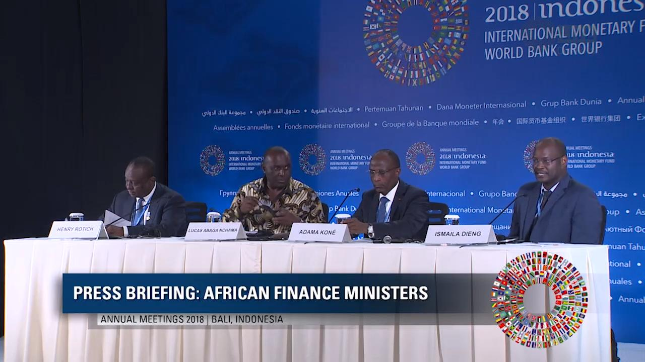 Press Briefing - African Finance Ministers