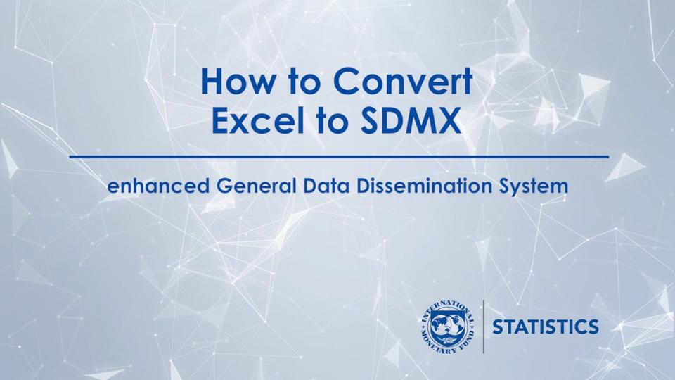 Online help with IMF SDMX Central