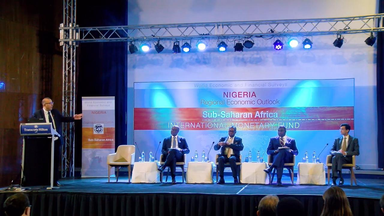 Presentation of Sub-Saharan Africa Regional Economic Outlook in Abuja, Nigeria