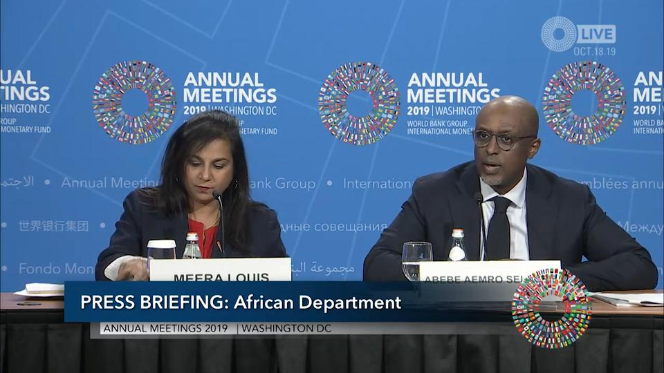 French - Press Briefing: Regional Economic Outlook: Sub-Saharan Africa, October 2019