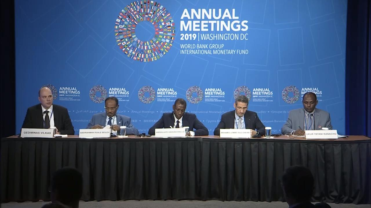 French - African Finance Ministers Press Conference