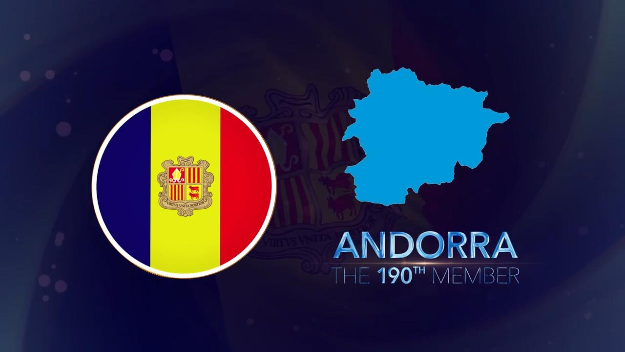 Welcome Andorra!